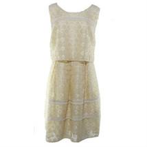 Jessica Simpson Women's Shimmer Knit Popover Sheath Dress Gold 8 - $18.22