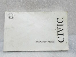 2002 Civic 2-Door Coupe Owners Manual 19297 - $13.85