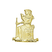 Isis Goddess Egyptian Genuine Real 10K YELLOW GOLD Throne Charm Pendant ... - $150.32