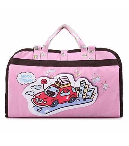 Hot Sale Baby Stroller Organizer Pushchair Storage Bag Cartoon Car Pink