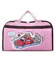 Hot Sale Baby Stroller Organizer Pushchair Storage Bag Cartoon Car Pink