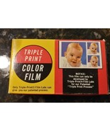 VTG Nov 1974 TRIPLE PRINT COLOR FILM 126 Never opened - 12 Exposure Came... - $16.11