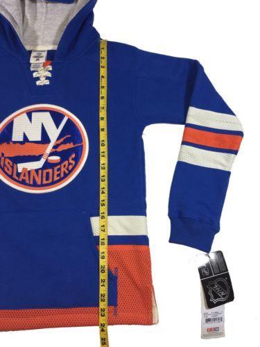 CCM New York Islanders Retro Skate Pullover NHL Hoodie Youth Sz Small MSRP $60