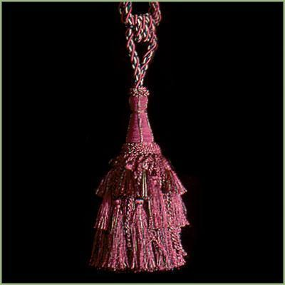 "27"" WINE Steeple Tie Back Hanging Tapestry TASSEL"
