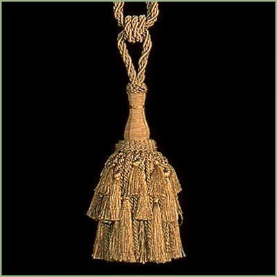 "27"" GOLD Steeple Tie Back Hanging Tapestry TASSEL"