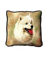 """17"""" Large SAMOYED White Dog Pillow Cushion Tapestry - $32.50"""
