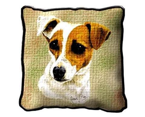 "17"" Large JACK RUSSELL Dog Pillow Cushion Tapestry"