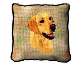 "17"" Large YELLOW LABRADOR Dog Pillow Cushion Tapestry - $32.50"