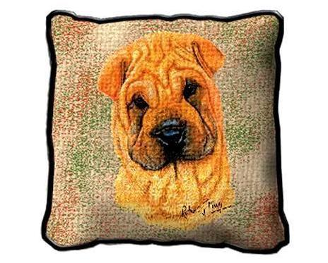 "17"" Large SHARPEI Dog Pillow Cushion Tapestry"