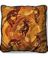 "17"" Large KOKOPELLI Dancers Southwest Pillow Cu... - $32.50"