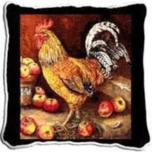 """17"""" LARGE Cockerel ROOSTER Chicken Apple Pillow Cushion - $32.50"""