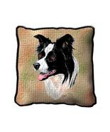 """17"""" Large BORDER COLLIE Dog Pillow Cushion Tapestry - $32.50"""
