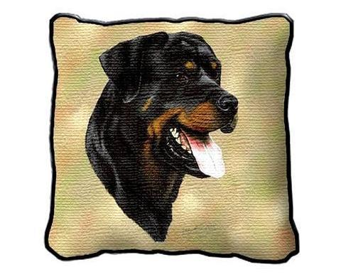 "17"" Large ROTTWEILER Dog Pillow Cushion Tapestry"