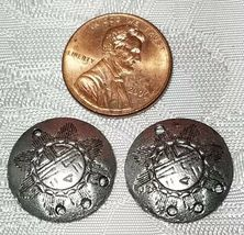 SOUTHWESTERN PATTERN SHIELD ONE TO THREE HOLE FINE PEWTER EARRING PART 18x18x3mm image 3