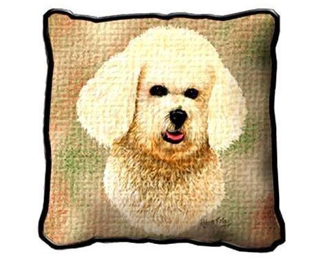 "17"" Large BICHON FRISE Dog Pillow Cushion Tapestry"