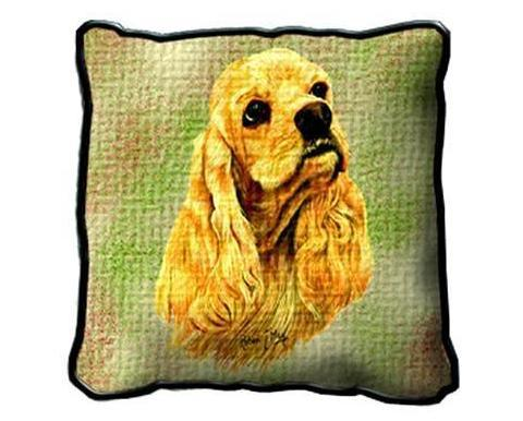"17"" Large COCKER SPANIEL Dog Pillow Cushion Tapestry"