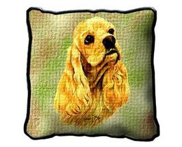 "17"" Large COCKER SPANIEL Dog Pillow Cushion Tapestry - $32.50"