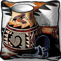 "17"" Large KOKOPELLI Pot Southwest Pillow Cushion - $32.50"
