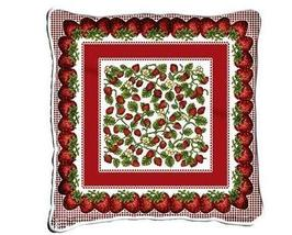 """17"""" LARGE Strawberry Festival Pillow Cushion Tapestry - $32.50"""