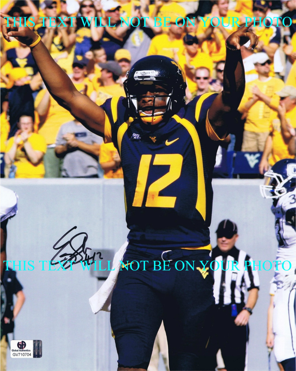Primary image for EUGENE GENO SMITH SIGNED AUTOGRAPHED AUTO 8x10 RP PHOTO WEST VIRGINIA QB