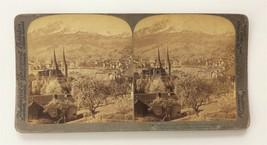 1903 antique LUCERNE MOUNT PILATUS switzerland STEREOVIEW PHOTO lofty ch... - $12.95