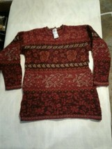 Vintage Laura Ashley Women Small Wool Sweater Pull Over (CB52) - $46.75