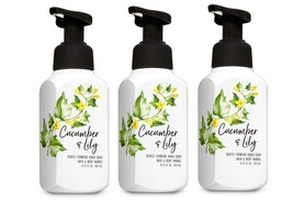 3 Bath & Body Works Cucumber Lily Gentle Foaming Hand Soap 8.75 fl oz each - $28.99