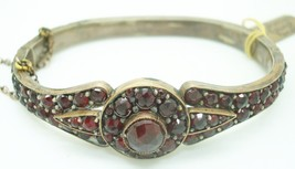 Genuine Natural Bohemian Garnet Bangle Bracelet (#2316) - $470.25