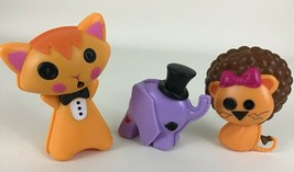 Lalaloopsy Replacement Pets Kitty Rattle 3pc Lot Lion Elephant Circus An... - $14.80