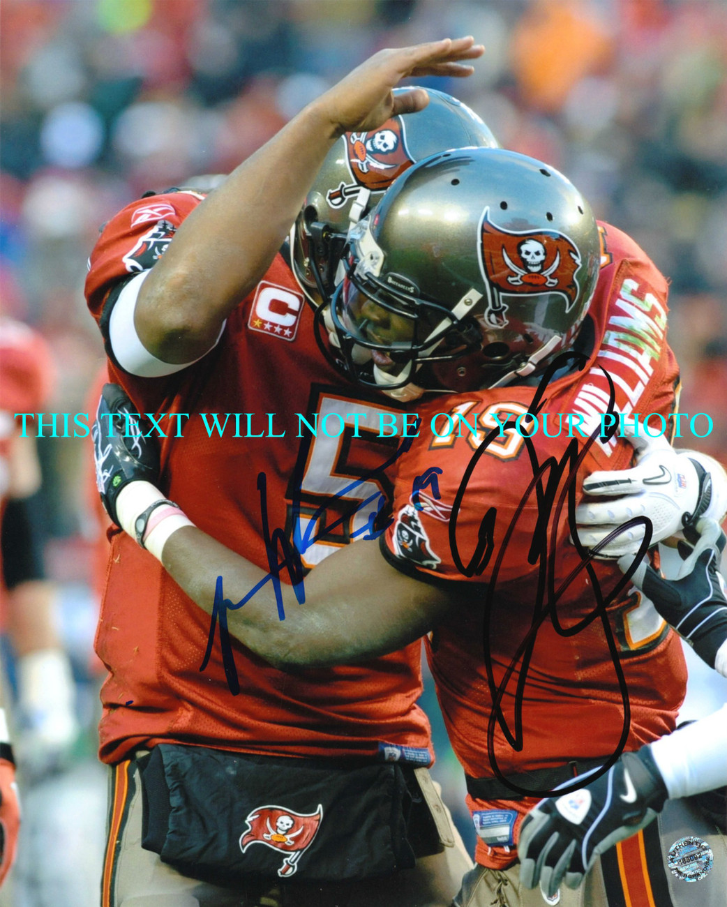 Primary image for JOSH FREEMAN AND MIKE WILLIAMS SIGNED AUTO 8x10 RP PHOTO TAMPA BAY BUCCANEERS