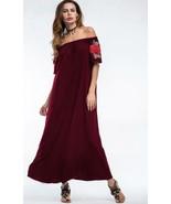Bardot Maxi with Flower Appliques Off Shoulder Dress size M L XL - $14.50