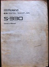 Roland S-330 Digital Sampler Midi Module Original Vintage Owner's Manual... - $34.64