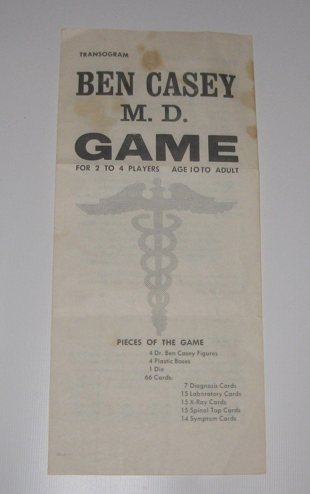 Transogram 3828-198 -- 1961 Ben Casey M.D. - Drama of Life in Big Metro Hospital image 6