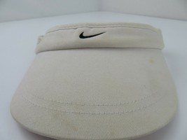 Nike Dri-Fit Golf White Black Adjustable Adult Visor Cap Hat - $12.86