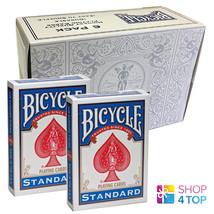 6 DECKS BICYCLE BLANK BACK STANDARD FACE BOX CASE MAGIC TRICKS CARDS NEW - $34.64