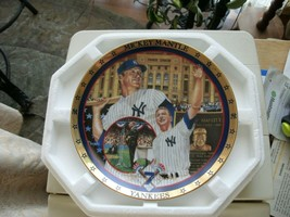 17#3 The Hamilton Collection A Salute To Mickey Mantle Collectors Plate - $13.85