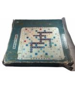 Vintage 1982 Scrabble with Turntable Base Deluxe Edition Board Game Maro... - $43.66