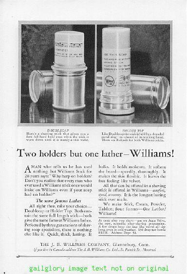 1925 Williams Shaving Aqua Velva 6 Vintage Print Ads