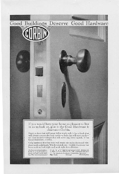 1926 Russwin & Corbin Hardware 2 Vintage Print Ads