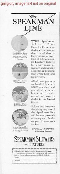 1926 TE-PE-CO, Speakman Bath Shower 2 Vintage Print Ads