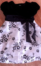 Girl's Sz 2T Black Velour White Organza Glitter Embellished Rare Edition... - $15.00