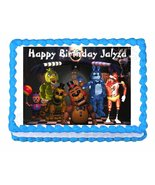 Five nights at Freddy's FNaF party edible cake image cake topper frostin... - $9.99