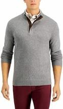 Tasso Elba Mens Quarter Zip Sweater Stormy Heather Gray Size XXL NWT - $29.69