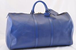 LOUIS VUITTON Epi Keepall 55 Boston Bag Blue M42955 LV Auth 7183 - $420.00