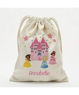 "Personalized Princess Castle Drawstring Sack Large 19"" x 27.75"" - $14.99"