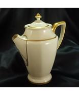 Rosenthal Corona Chocolate Pot Art Deco Ivory Porcelain Gold Trim 24 oz ... - $26.73
