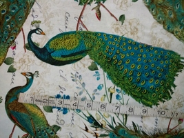 1/2 yard colorful Peacocks/birds cotton quilt fabric -free shipping image 3