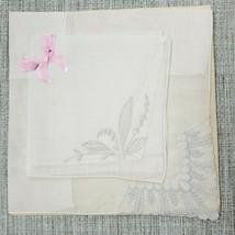 Vintage Ladies Fine Embroidered Handkerchiefs Hankie Unused - $15.84