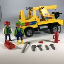 Playmobil 3438 Quick Service Tow Truck Figures Accessories Geobra Vintag... - $49.49