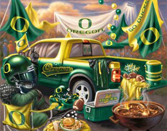 Primary image for Oregon Ducks TaiLgate Cross Stitch Pattern***L@@K***~~ I SEND WORLD-WIDE ~~Free